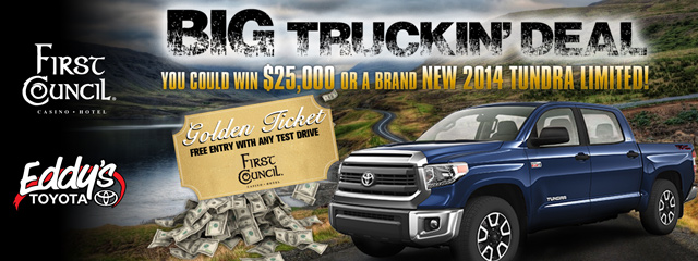 first-council-casino-table-games-Big-Truckin-deal-banner